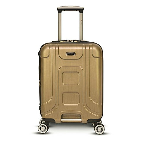 "Gabbiano Provence 20"" Expandable Carry-On Hardside Spinner Luggage (Golden)"