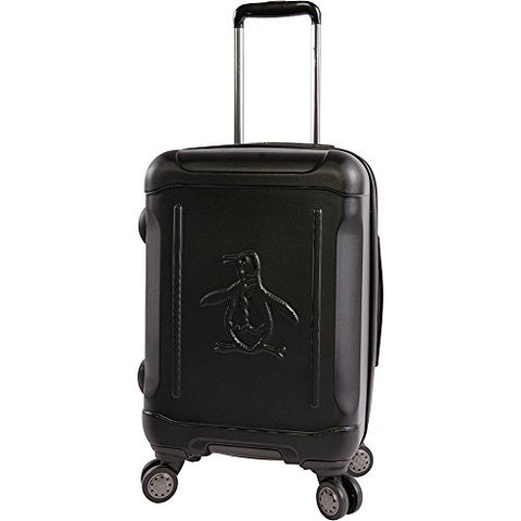 "Original Penguin Clive 21"" Hardside Carry-On Spinner Luggage, Black"