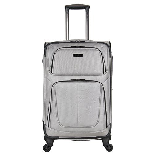 "Kenneth Cole Reaction Lincoln Square 24"" 1680d Polyester Expandable 4-Wheel Spinner Checked"