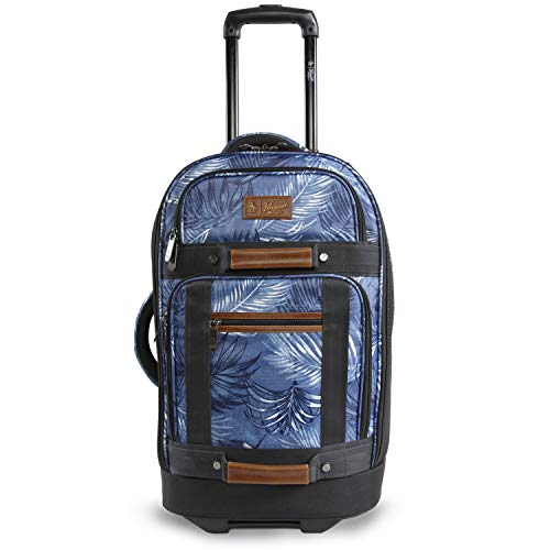 "ORIGINAL PENGUIN Luggage 21"" Rolling Duffel Bag, Blue Palm Tree, One Size"
