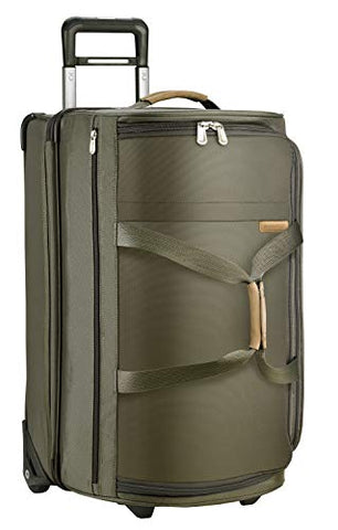 Briggs & Riley Baseline Upright Duffle Bag, Olive, Medium