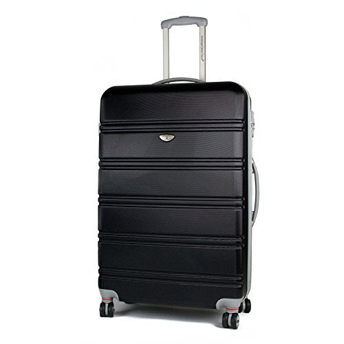 AGT Spinner TSA 2-Piece, Checked, Carry-On Luggage (30 inch, Black)