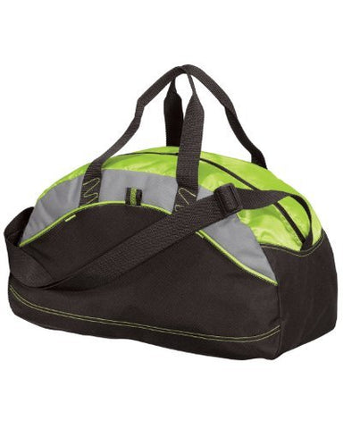 Port & Company Small Contrast Duffel, Lime, One Size