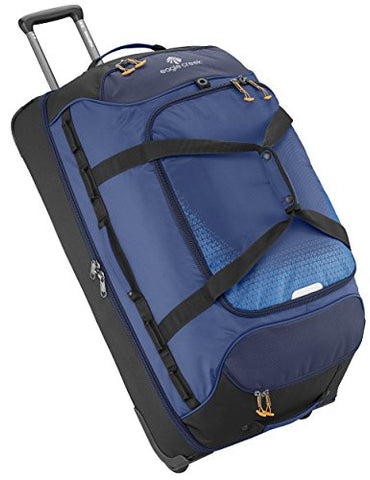 Eagle Creek Expanse Drop Bottom Wheeled Duffel 32 Inch Luggage, Twilight Blue