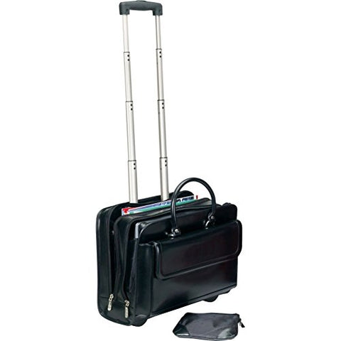 Bellino The Transit Computer Rolling Tote, Black