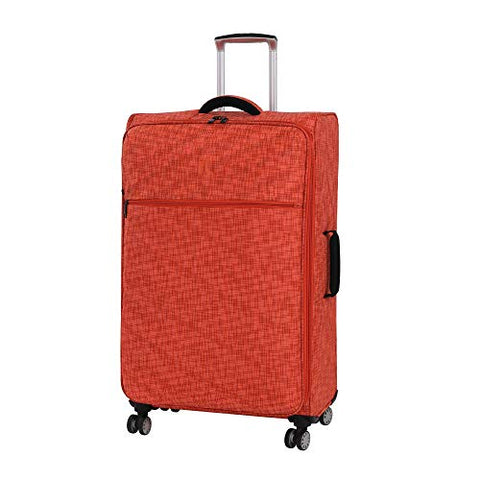 "it luggage 26.8"" Stitched Squares Lightweight Case, Orange"