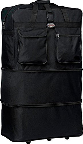 "30""/36""/40""/ Rolling Wheeled SuitCase (40"", Black)"