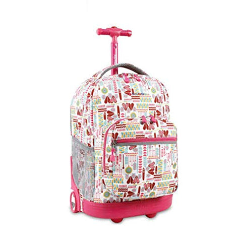 Qcc& Multifunction Waterproof Wheeled Rolling Luggage Backpack For Boys Girls Teenagers Schooling