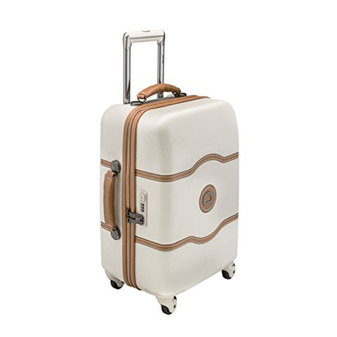 Delsey Luggage Chatelet 21 Inch Carry-On Spinner (One size, Cream/Tan)