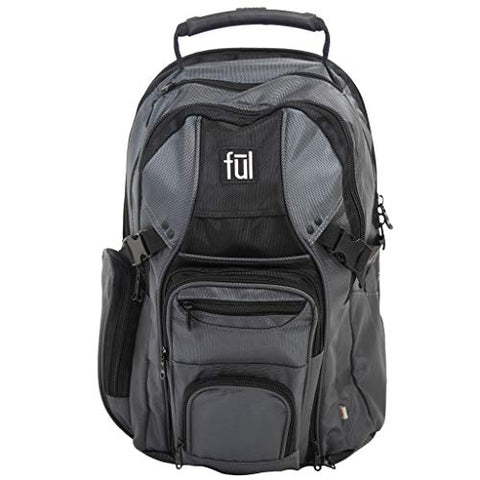 Ful Tennman Laptop Backpack, 17-Inch Laptop Sleeve, Titanium