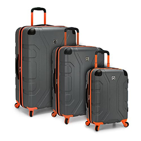U.S. Traveler Sky High 3-Piece Hardside Spinner Set, Grey
