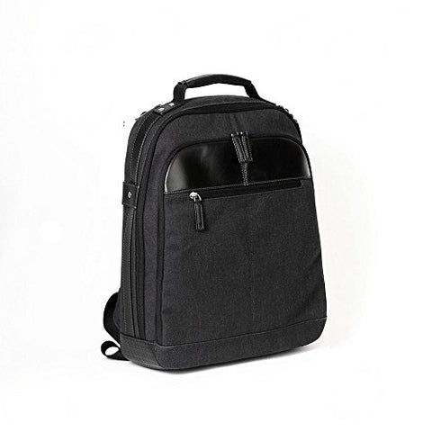 "Boconi Bryant LTE City Leather 17"" Laptop Backpack in Black"