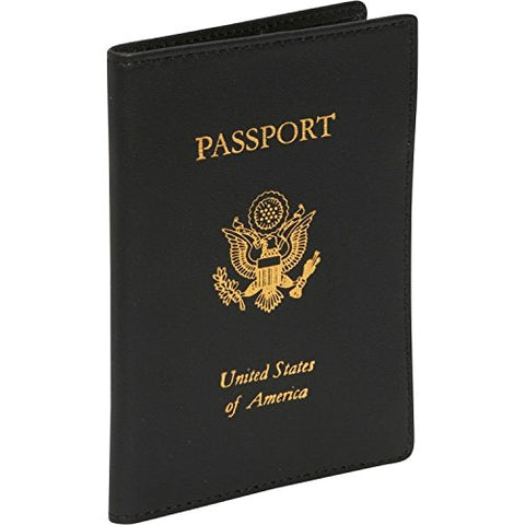Royce Leather Rfid Blocking Passport Travel Document Organizer in Leather, Black 1