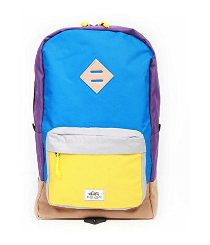 Ecko Unltd. Unisex Colorblock Pocket Everyday Backpack Blue