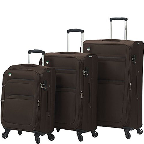 Mia Toro Alagna Softside Spinner Luggage 3 Piece Set, Coffee