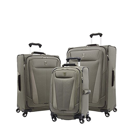 "Travelpro Luggage Maxlite 5 | 3-Pc Set | 21"" Carry-On, 25"" & 29"" Exp. Spinners (Slate Green)"