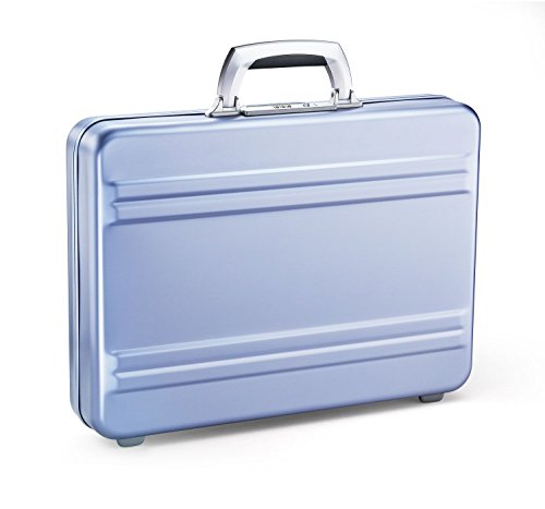 Zero Halliburton Slimline Aluminum Attache Case In Polished Blue