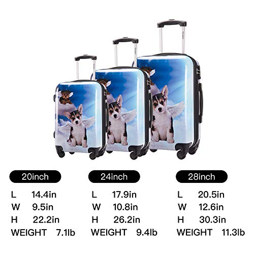 Chariot Luggage Light Weight PC+ABS Spinner Suitcase 28inch Zipper closer Available Color