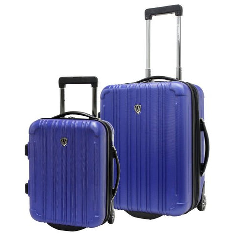 Traveler's Choice New Luxembourg 2pc Carry-On Hardside Luggage Set (Royal Blue)