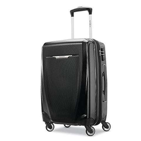 Samsonite Winfield 3 Dlx Hardside Carry On Luggage With Double Spinner Wheels, 20-Inch, Black