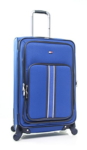"Tommy Hilfiger Signature Solid 24"" Expandable Spinner, Blue"