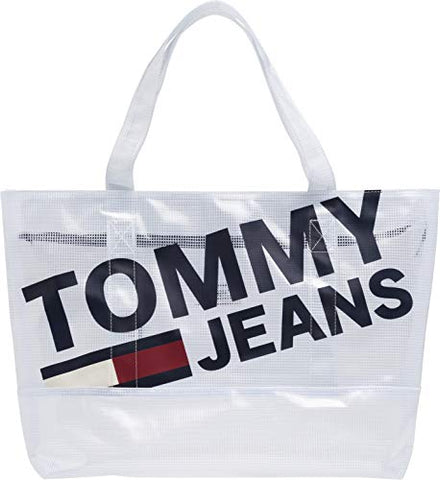 Tommy Jeans Summer Tote Mesh Womens Messenger Bag One Size Classic White