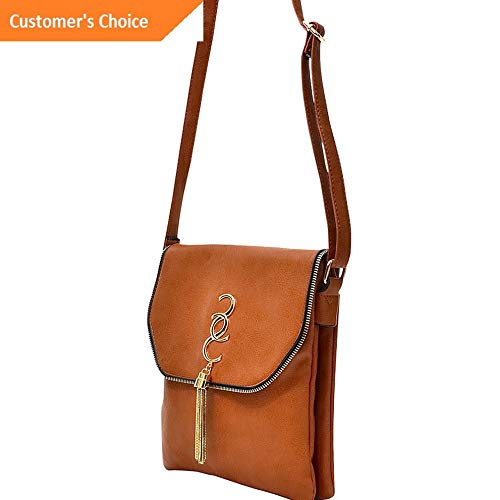 Sandover Dasein Double Pocket Tassel Messenger Bag 3 Colors Cross-Body Bag NEW | Model LGGG - 10867