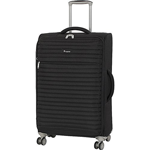 "It Luggage 27.4"" Quilte Lightweight Expandable Spinner, Black"