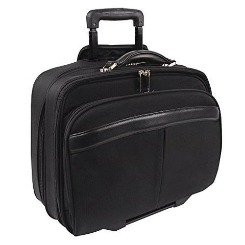 Bugatti Business Case on Wheels, Nylon, Black