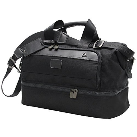Andiamo Avanti Collection Drop Bottom Satchel, Midnight Black, One Size