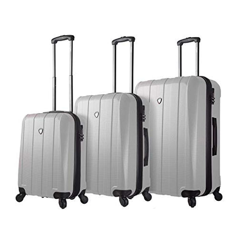 Mia Toro Italy Tosetti Hardside Spinner Luggage 3pc Set,White