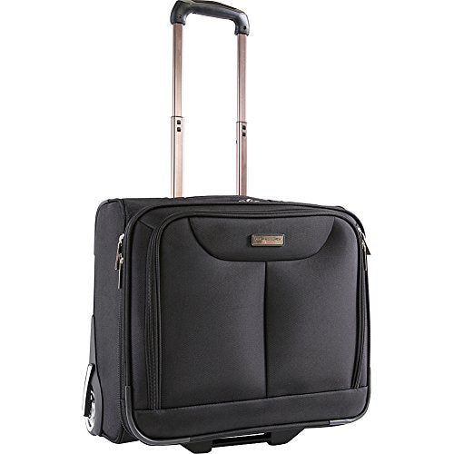 Pacific Coast Rolling Laptop Business Briefcase, Black