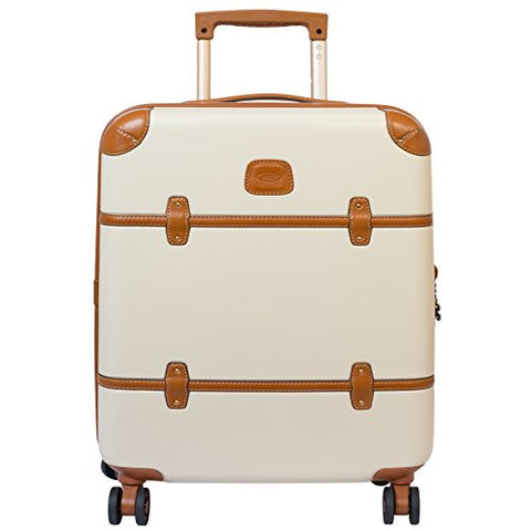 Bric's Luggage Bellagio Ultra-Light 21 Inch Carry On Spinner Trunk, Cream, One Size
