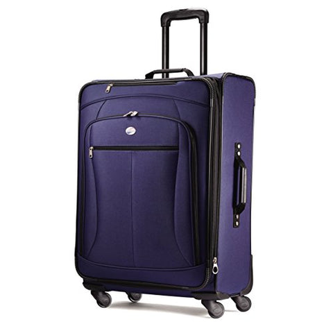 "American Tourister Luggage Pop Extra 25"" Spinner Suitcase (25"", Navy)"