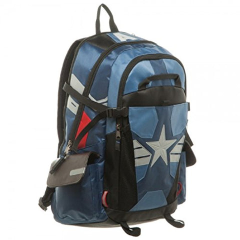 Marvel Civil War Captain America Laptop Backpack