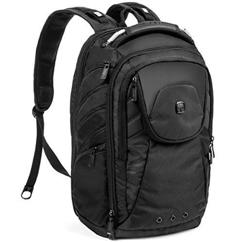 "SwissGear 2762 Laptop Backpack.Laptop Backpack (17.5"", Monochrome Black)."