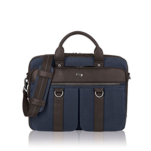 "Solo Mercer 15.6"" Laptop Briefcase, Blue, One Size"
