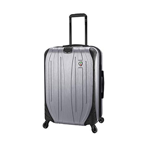"Mia Toro Italy Ferro Hard Side 29"" Spinner Luggage, ALUMINUM"