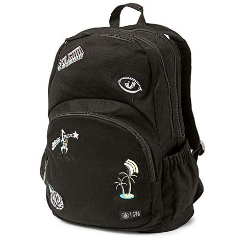 Volcom Junior's Fieldtrip Canvas Backpack, Black, One Size Fits All
