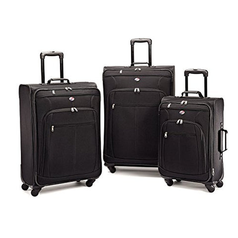 American Tourister Luggage AT Pop 3 Piece Spinner Set, Black