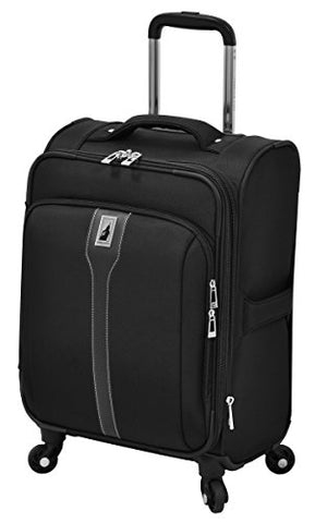 "London Fog Knightsbridge 20"" Expandable Spinner Carry-On, Black"