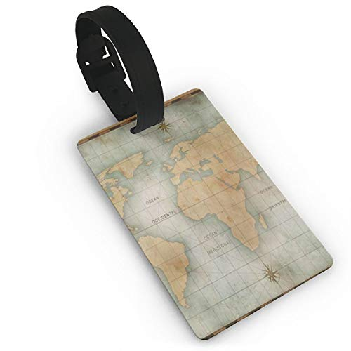 Luggage Tags Retro World Map Special Travel Name Tag Holder Labels