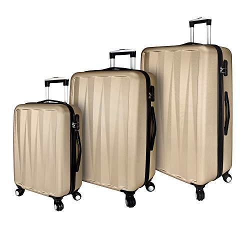 Elite Luggage Elite 3-Piece Spinner Luggage Set, Champagne