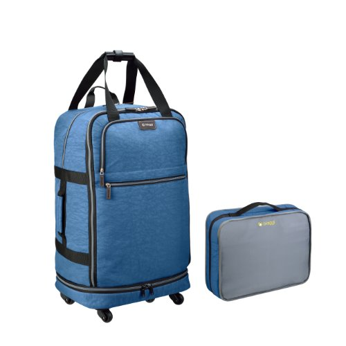 "Biaggi Luggage Zipsak 27"" Micro Fold Spinner Suitcase, Winter Blue"
