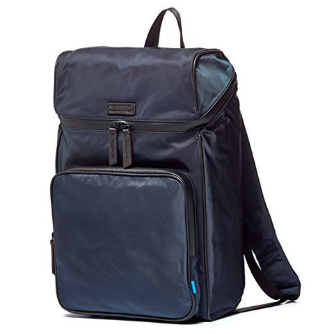 Uri Minkoff Stanton Backpack Soft Napa Leather W/ Black Twill Lining, Ocean Blue