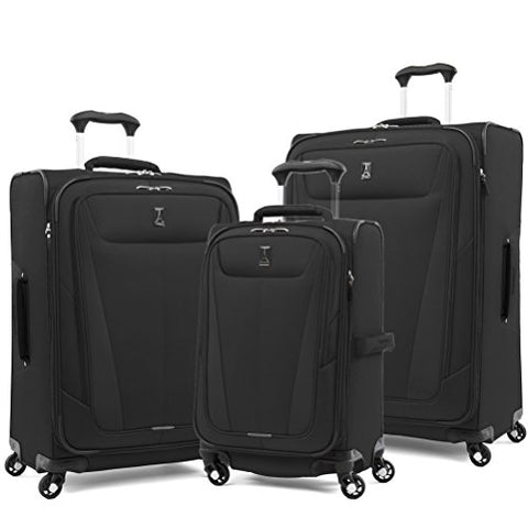"Travelpro Luggage Maxlite 5 | 3-Pc Set | 21"" Carry-On, 25"" & 29"" Exp. Spinners (Black)"