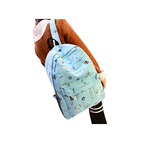Doodle Canvas Backpack School Bags For Teen Girls Ruckack Backpack