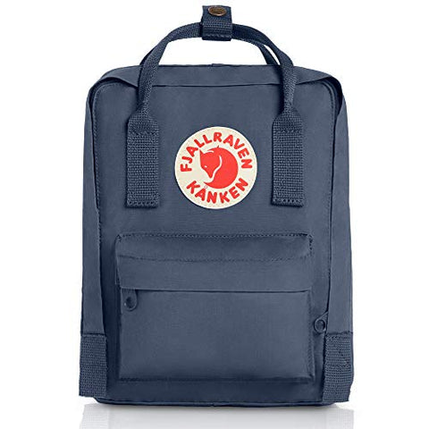 Fjallraven Women's Kanken Mini Backpack, Graphite, Blue, One Size