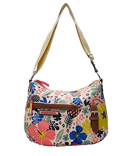 Lily Bloom Kathyrn Large Convertible Crossbody Hobo, Floral Tribal