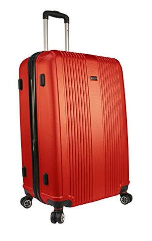"Mancini Santa Barbara 28"" Lightweight Spinner Luggage in Red"